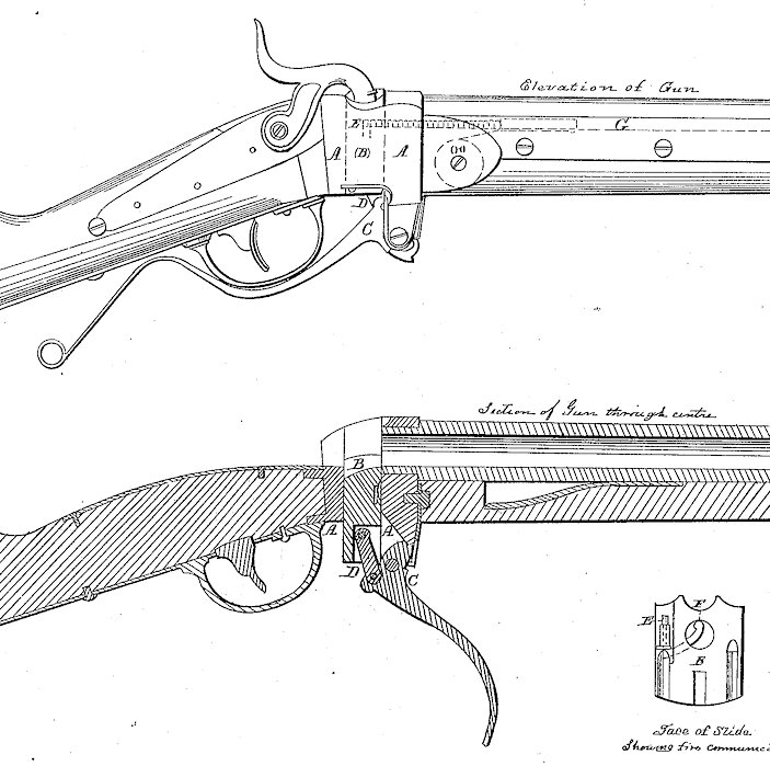 Sharps Rifle Drawings Christian Sharps The Inventor