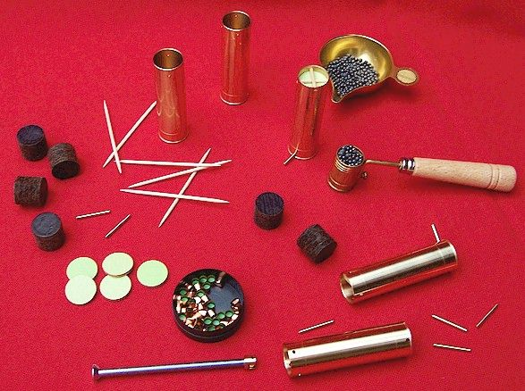 16 gauge reloading kit for pinfire shotgun - Blackpowder & Musket